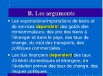 b les arguments12