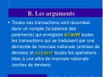 b les arguments14