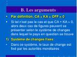 b les arguments15