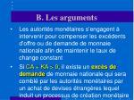 b les arguments16