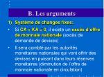 b les arguments17