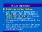 b les arguments19