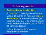 b les arguments20