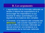 b les arguments21