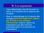 b les arguments22