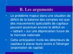 b les arguments23