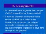 b les arguments26
