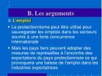 b les arguments29