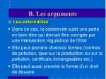 b les arguments4