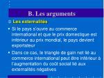 b les arguments5