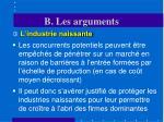 b les arguments8