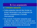 b les arguments9