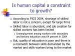 is human capital a constraint to growth
