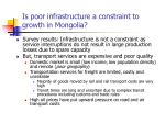 is poor infrastructure a constraint to growth in mongolia