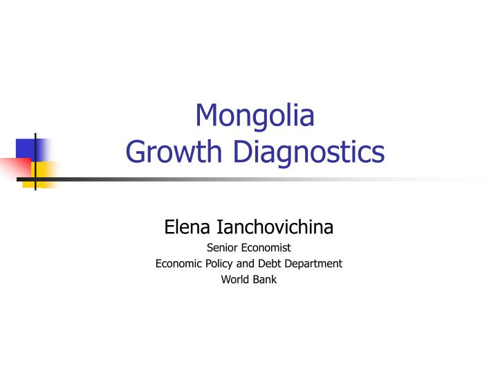 mongolia growth diagnostics n.