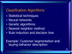classification algorithms