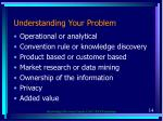 understanding your problem