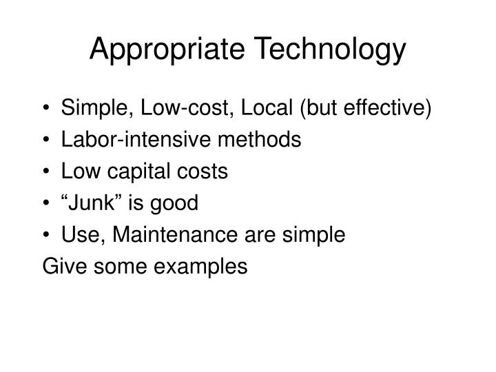 Appropriate Technology