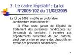 3 le cadre l gislatif la loi n 2005 102 du 11 02 2005