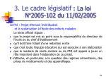 3 le cadre l gislatif la loi n 2005 102 du 11 02 200510