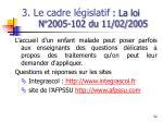 3 le cadre l gislatif la loi n 2005 102 du 11 02 200511
