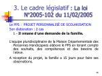 3 le cadre l gislatif la loi n 2005 102 du 11 02 20055