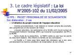3 le cadre l gislatif la loi n 2005 102 du 11 02 20056