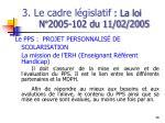 3 le cadre l gislatif la loi n 2005 102 du 11 02 20057