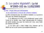 3 le cadre l gislatif la loi n 2005 102 du 11 02 20059