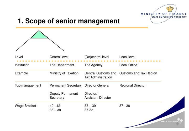 1. Scope of senior management