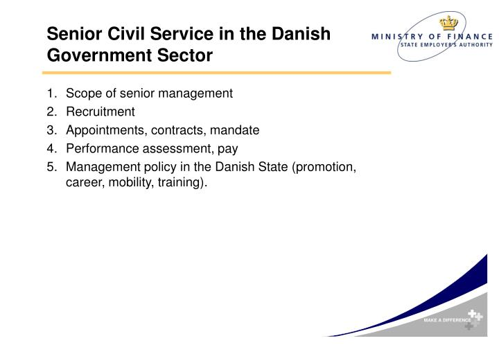 Senior civil service in the danish government sector1