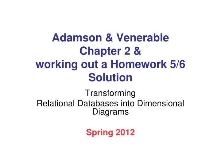 adamson venerable chapter 2 working out a homework 5 6 solution n.