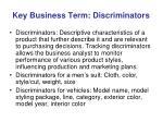 key business term discriminators