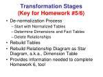 transformation stages key for homework 5 6