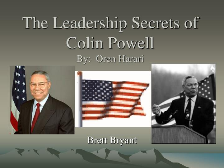 the leadership secrets of colin powell by oren harari n.