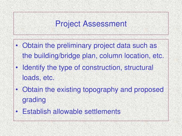 Project Assessment