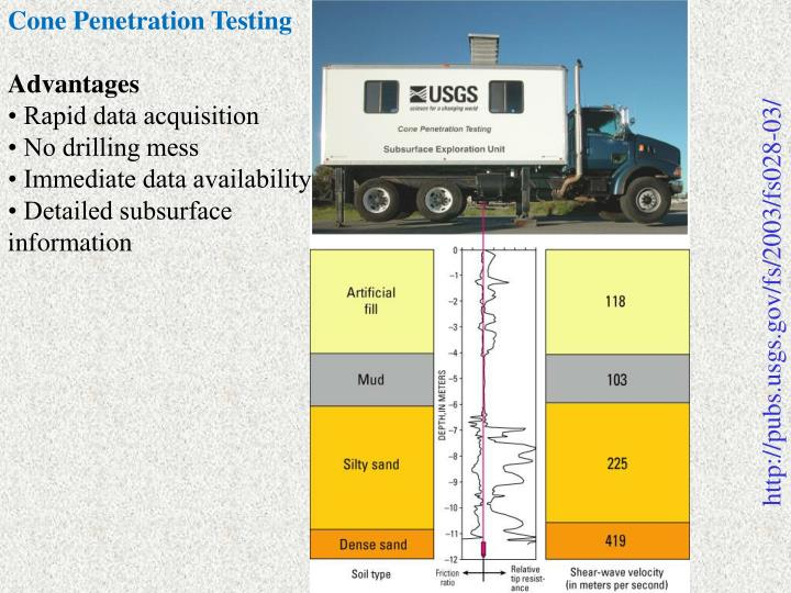Cone Penetration Testing