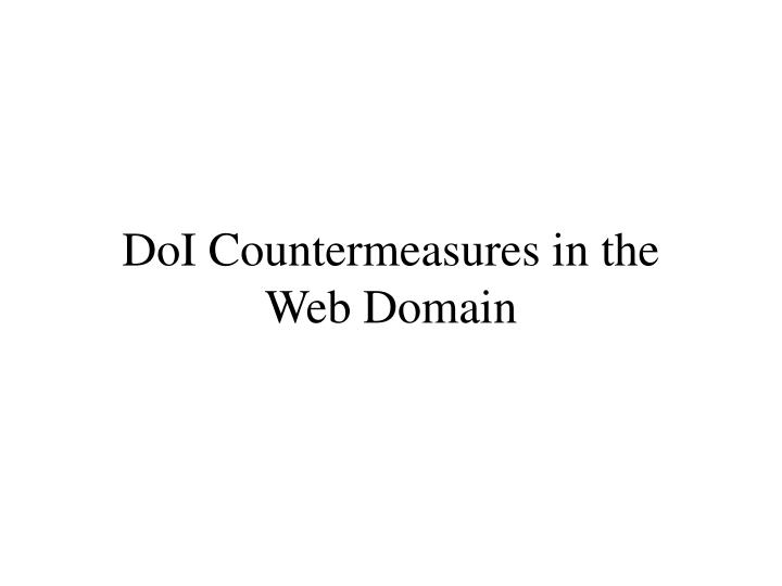 DoI Countermeasures in the