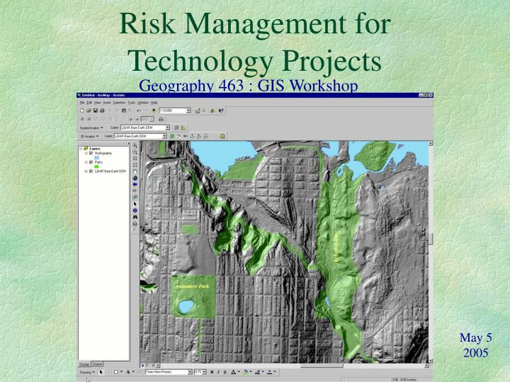 Risk management for technology projects