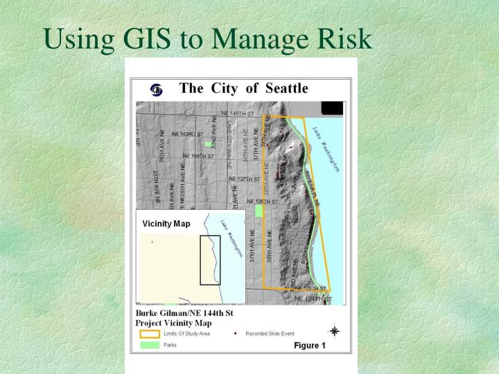 Using GIS to Manage Risk