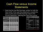 cash flow versus income statements