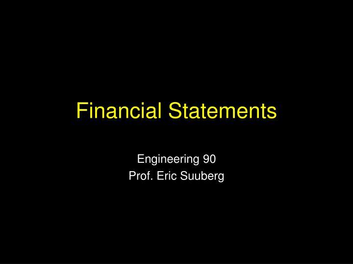 financial statements n.