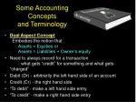 some accounting concepts and terminology