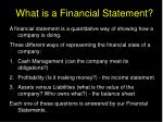 what is a financial statement