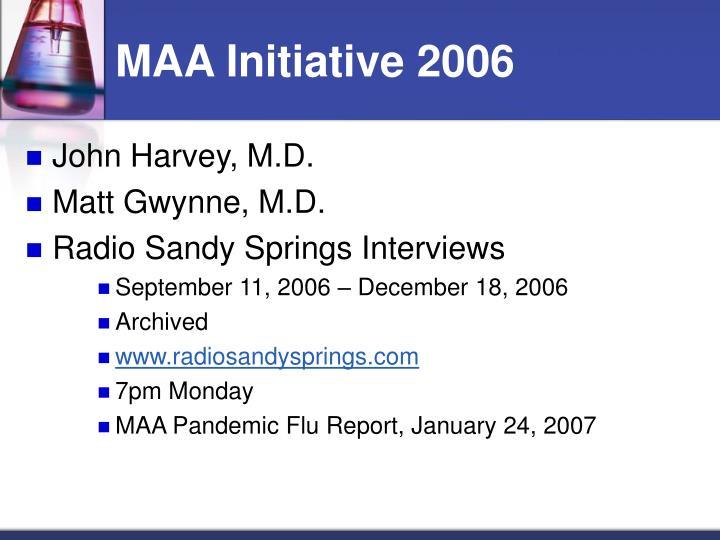 MAA Initiative 2006