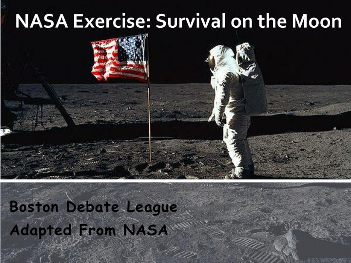 nasa exercise survival on the moon n.