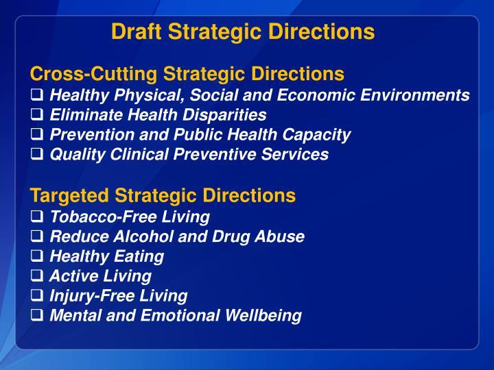 Draft Strategic Directions