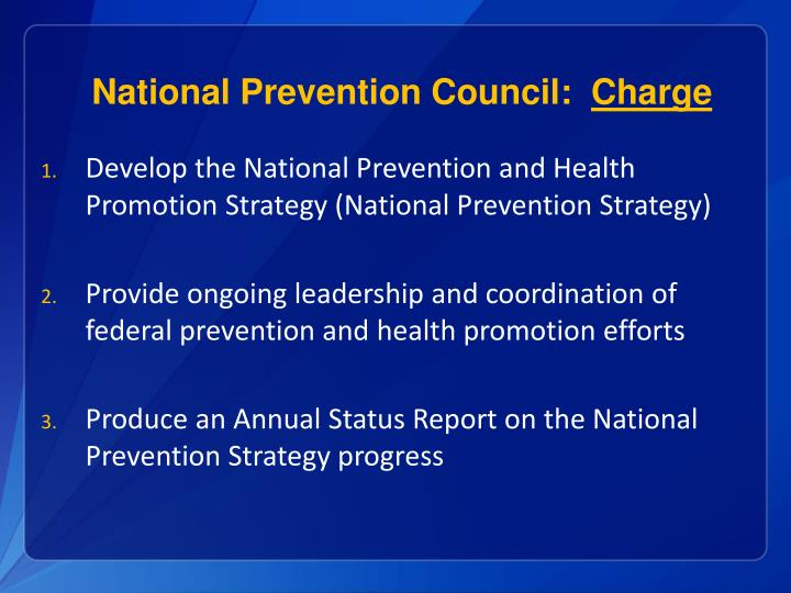 National Prevention Council:
