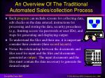an overview of the traditional automated sales collection process1