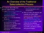 an overview of the traditional sales collection process